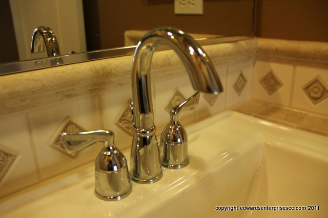 Edward's Enterprises Faucet Repair Service: Bathroom Sink Faucet installation