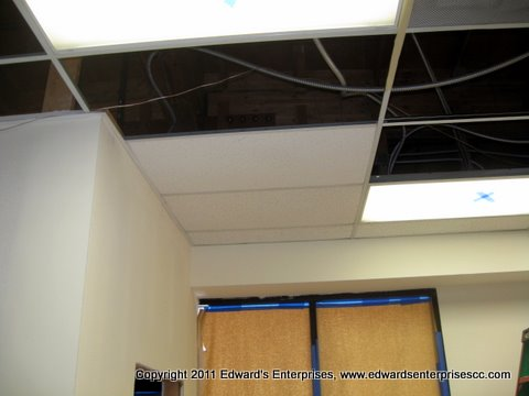 Drop Ceiling Grid Tile Repaired Replaced Painted