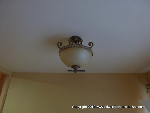 Residential living room light fixture installed in Santa Barbara home.