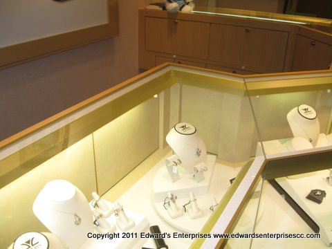 Retail cabinet lighting solution to make your Santa Barbara, CA displays pop out: Edward's Enterprises Cabinet Lighting.