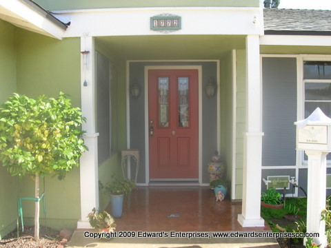 Edward's Enterprises Door Repair Service in Porter Ranch, CA 91326: Entryway to a residential remodel project