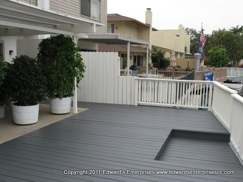 Fantastic Los Angeles residential deck remodeling and painting: Edward's Enterprises Deck.