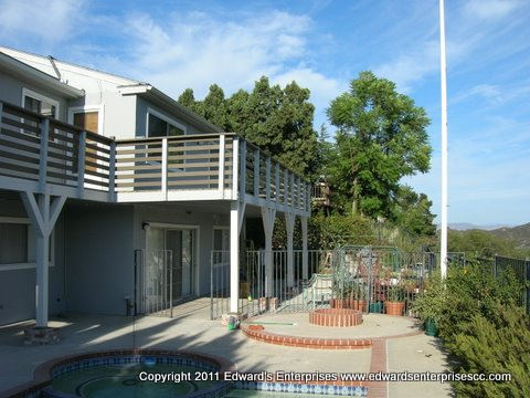 A full scale residential deck project remodel by Edward's Enterprises in Los Angeles, CA.