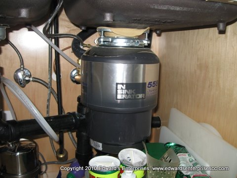 3/4 Horse Power Garbage Disposal Installation in progress