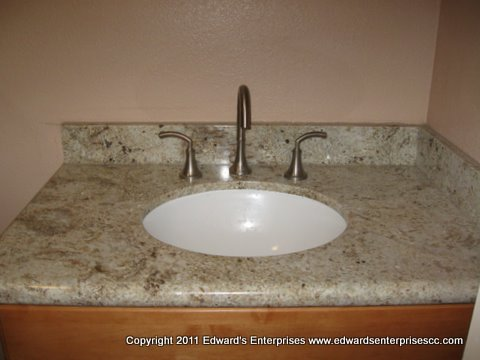 Residential faucet & sink countertop project