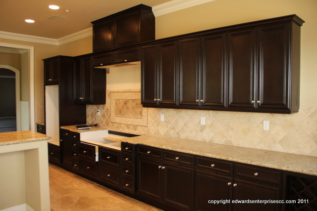 After cabinet & counter installation on a home remodel project.