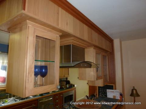 Stainless Steel Kitchen Hoods installation in Van Nuys kitchen remodel.