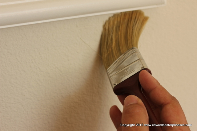 Painting Touching Up Baseboard & Wall