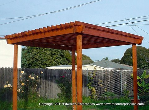 New Backyard Arbor Constructed, Stained U0026 Sealed For Los Angeles (Westside)  Residential Customer