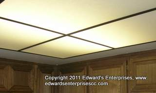 Acrylic lighting cover installation at Canoga Park commercial business make this office shine: Edward's Enterprises