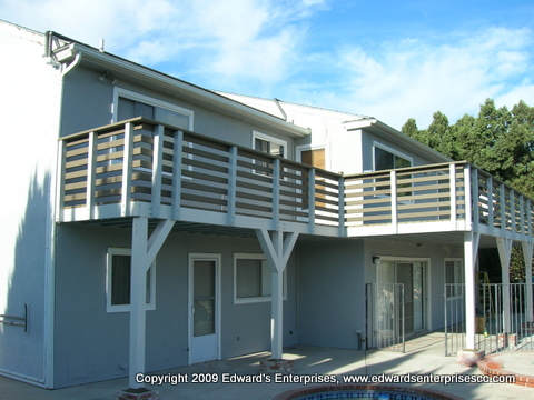 A full scale residential deck project remodel by Edward's Enterprises in Los Angeles (West), CA