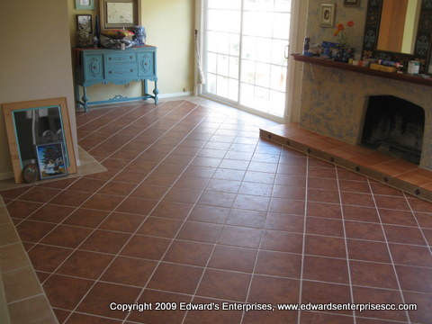 Apartment Installations : Tile installation that would look great in any apartment.