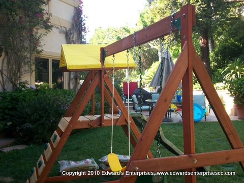 Edward's Enterprises Handyman Service in Fillmore, CA 93015: Swingset assembled for residential customer