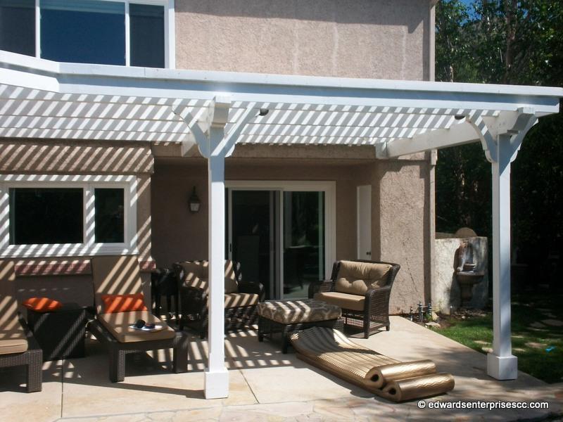 Backyard home arbor project in Westlake Village, CA