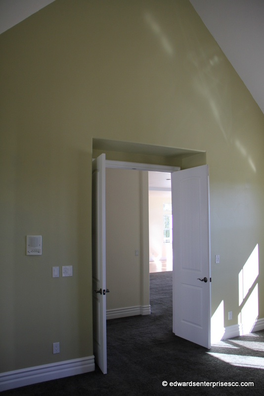 Interior doors installed by