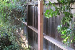 Carpentry Fence Leaning Repair
