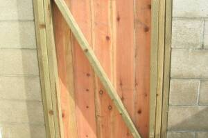 Carpentry Gate Entry Door - Carpentry