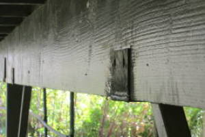 Carpentry Deck Beam Repair