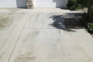 Landscaping Pressure Washing Driveway Spots - Landscaping