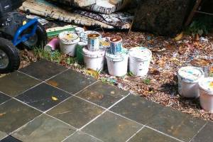 Landscaping Pressure Washing Paint Drops - Landscaping