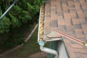 Landscaping Rain Gutter Cleaning Dirt Debris - Landscaping