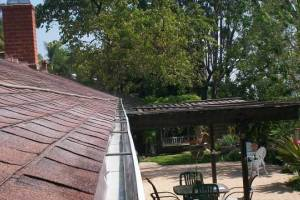 Landscaping Rain Gutter Cleaning Leaves