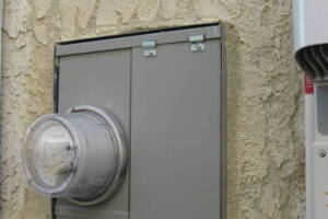 Painting Stucco Electrical Panel Texture - Painting