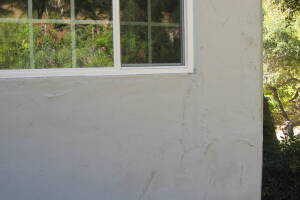 Painting Stucco Window Wall Cracks - Painting