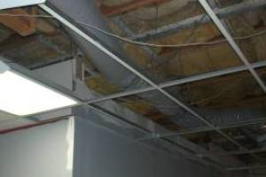 Repair Drop Ceiling Tiles Lighting Installed - Repair