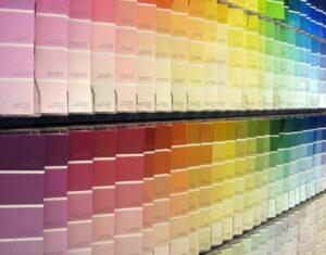 Wall of Pantone colors