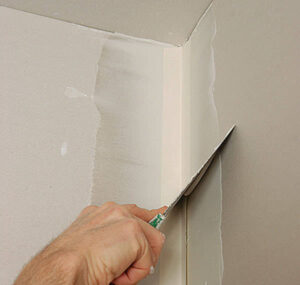 Repair of drywall in corner