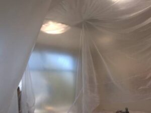 Wall Demolition Protective Covering