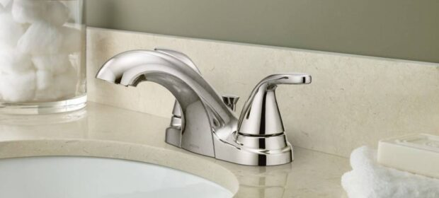 Moen Adler Bathroom Faucet Installed At Sink