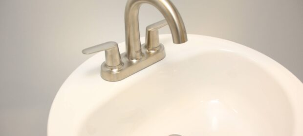 Grohe Veletto brushed nickel installed over sink