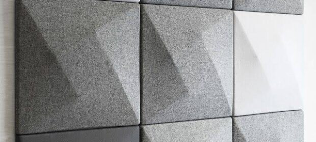 9x9 grid of fabric acoustic tile